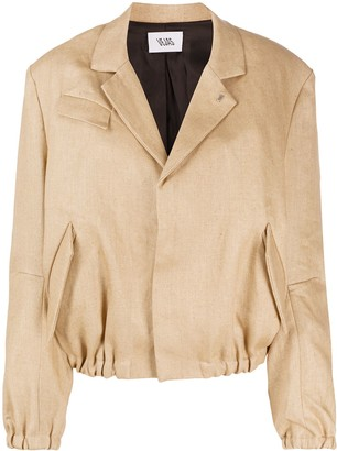 Vejas Gathered Blazer Jacket