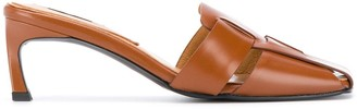 Reike Nen Woven Square Heeled 60mm mules