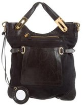 Balenciaga Leather & Suede Satchel