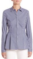 Lafayette 148 New York Fletcher Check-Print Shirt