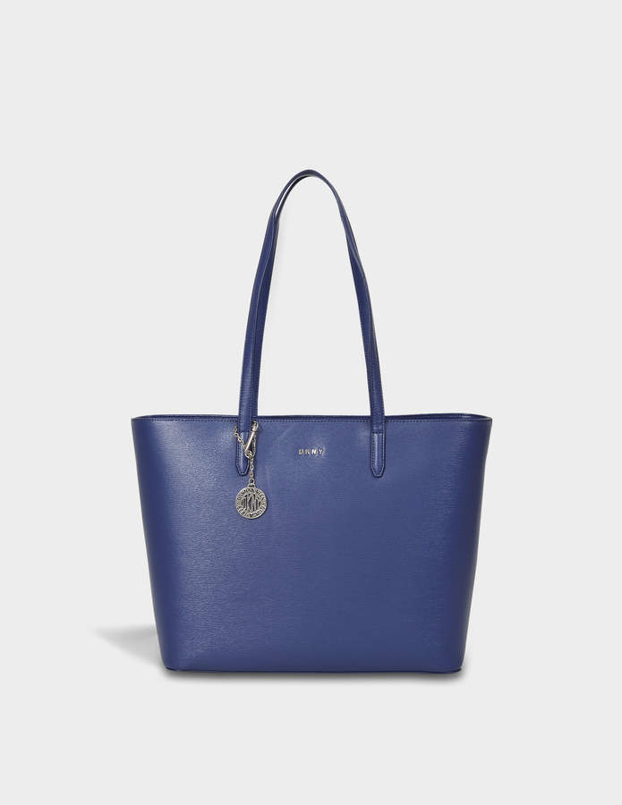 DKNY Sutton Large Tote Bag in Iris Textured Leather