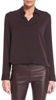 The Row Petah Classic Georgette Blouse, Port