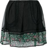 Coach sheer detail mini skirt - women - Silk/Cotton/Polyamide/Polyester - 2
