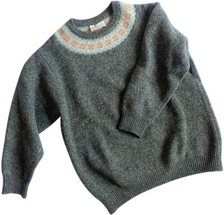 Benetton Anthracite Wool Knitwear