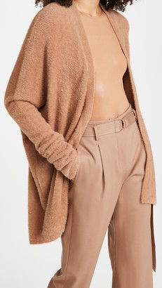 Sally LaPointe Soft Teddy Oversized Cocoon Cardigan