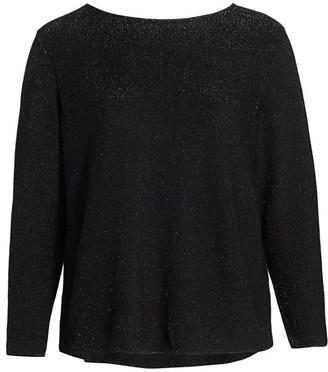 Lafayette 148 New York, Plus Size Glitter Cashmere Sweater
