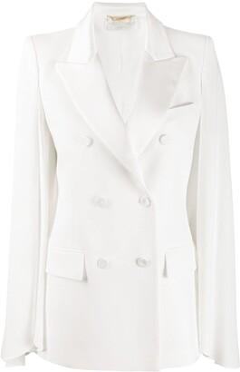 Alberta Ferretti Double-Breasted Regular-Fit Blazer