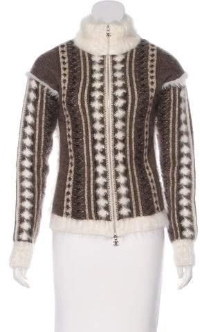 Chanel Intarsia Zip Cardigan