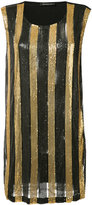 Balmain striped dress - women - Polyamide/Spandex/Elastane/Viscose/Brass - 36
