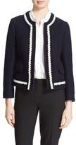Helene Berman Women's Collarless Boiled Wool Blend Jacket