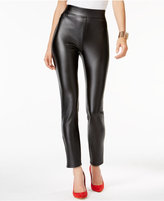 Thalia Sodi Faux-Leather Coated Pull-On Pants, Only at Macy's