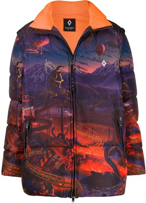 Marcelo Burlon County of Milan Fantasy down jacket