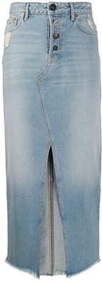 Semi-Couture Denim Midi Skirt