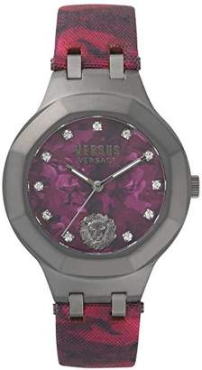 Versace VSP350117 Women's Analogue Quartz Movement Watch with Camouflage Red Strap Laguna City Military