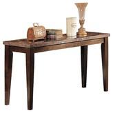 ACME Furniture Danville Sofa Table Black Marble & Walnut - ACME