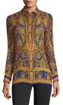 Etro Paisley-Print Silk Tunic
