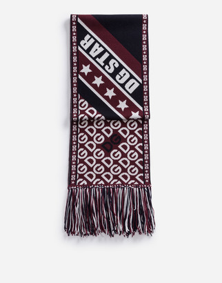 Dolce & Gabbana Knit Scarf With Jacquard Logo