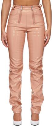 GmbH Pink Vinyl Frey Trousers