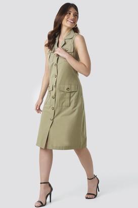 Trendyol Buttoned Linen Dress