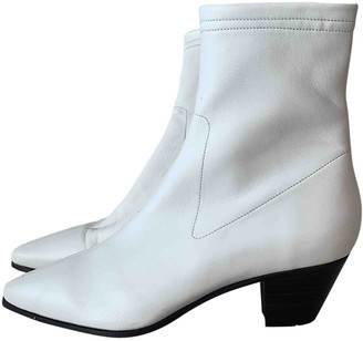 Maje Spring Summer 2020 White Leather Boots
