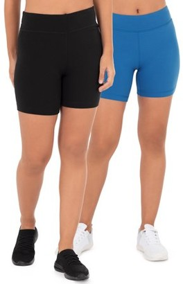 Athletic Works Athletic Work's Women's Active 2 Pack Bike Shorts