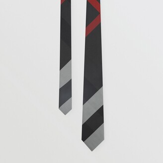 Burberry Modern Cut Oversized Check Silk Tie
