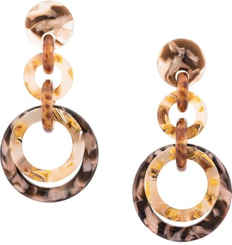 Lele Sadoughi Loop-de-loop drop earring