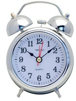 Bell Table Clock Colour: Silver