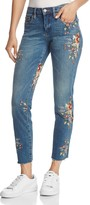 Blank NYC Blanknyc Embroidered Straight-Leg Jeans in Green Thumb Blue