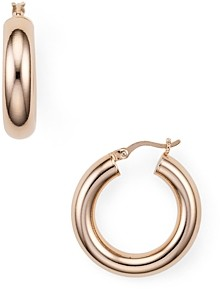 Argentovivo Tube Hoop Earrings