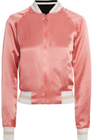 Elizabeth and James Willa Reversible Embroidered Satin And Twill Bomber Jacket - large