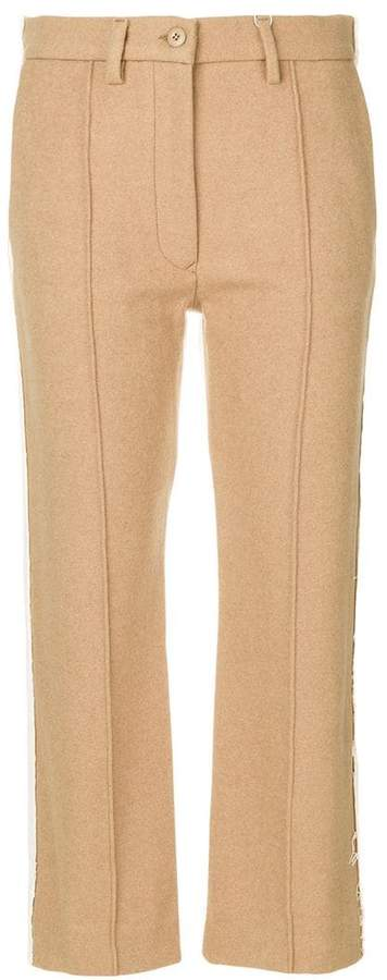 MM6 MAISON MARGIELA contrast panel cropped trousers