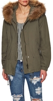 Tasha Tarno Coyote Fur-Trimmed and Rabbit Fur-Lined Jacket