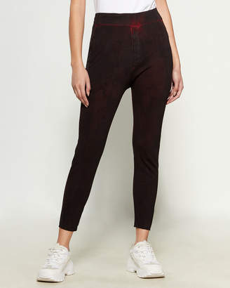 Research Code By Never Enough Wine Red Claudine Pants