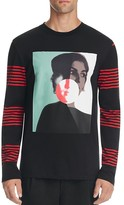 McQ by Alexander McQueen Face Graphic Slim Fit Pullover