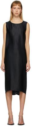 Ann Demeulemeester Black Silk Rasoseta Dress