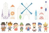 Disney it's a small world Large Decal Wall Decorations