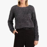 La Redoute Collections Sparkle Knit Jumper with Crew Neck