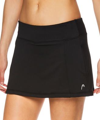 Head Women's Casual Skirts BLACK - 12'' Black Lead Pocket Skort - Women