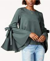 J.o.a. Tie Bell-Sleeve Top