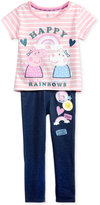 Nickelodeon Nickelodeon's Peppa Pig 2-Pc. Graphic-Print T-Shirt and Leggings Set, Little Girls (4-6X)