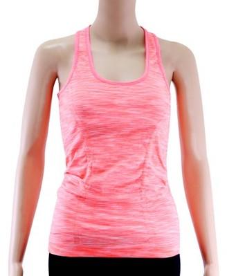 Acappella Women Racerback Sports Top - High Impact Workout Gym Activewear Top Orange - S