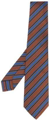 Kiton stripe contrast tie
