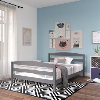 Better Homes & Gardens Leighton Bed, Full Size Wood Frame, Gray