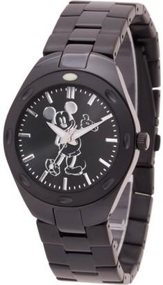 Disney Mickey Mouse Men's Black Fortaleza Stainless Steel Watch