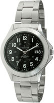 Peugeot Mens Silver-Tone Military Watch