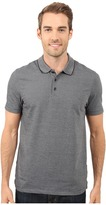 Perry Ellis Two-Button Birdseye Texture Polo