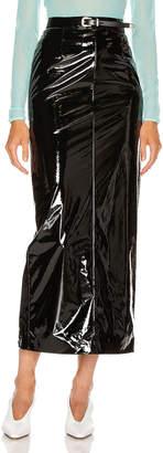 Maison Margiela Vinyl Skirt in Black   FWRD