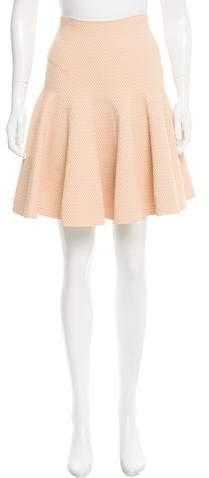 Alaia Textured Flare Skirt
