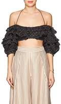 Zimmermann Women's Embroidered Cotton-Silk Bodice Top